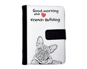French Bulldog- Notebook with the calendar of eco-leather with an image of a dog! NEW COLLECTION!