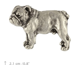 English Bulldog (body), dog pin, limited edition, ArtDog