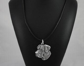Deutsche Dogge (uncropped), Great Dane, dog necklace, limited edition, ArtDog
