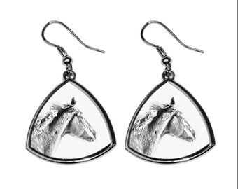 Thoroughbred, collection of earrings with images of purebred horses, unique gift. Collection!