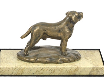 Labrador Retriever, dog marble base statue, limited edition, ArtDog. Made of cold cast bronze. Perfect gift. Limited edition