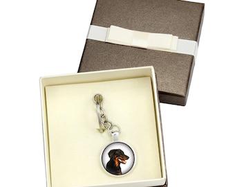 Beauceron. Keyring, keychain with box for dog lovers. Photo jewellery. Men's jewellery. Handmade.
