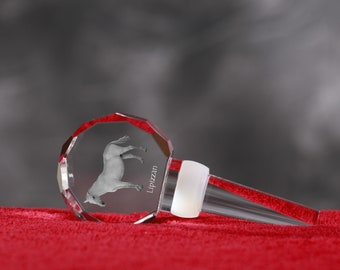 Lipizzan, Crystal Wine Stopper with Horse, Wine and Horse Lovers, High Quality, Exceptional Gift. New Collection