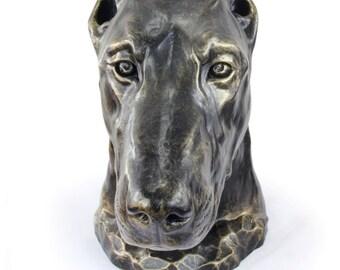 Doberman (cropped), dog big head statue, limited edition, ArtDog