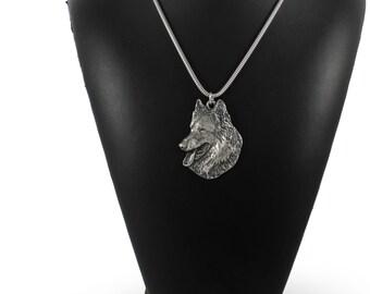 NEW, Belgian Shephard, dog necklace, silver chain 925, limited edition, ArtDog