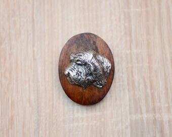 Basset Vendeen (Petit Basset Griffon Vendéen), dog clipring, dog show ring clip/number holder, limited edition, ArtDog