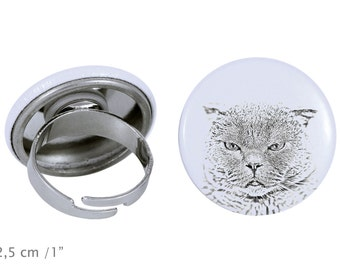 Ring with a cat -Scottish Fold