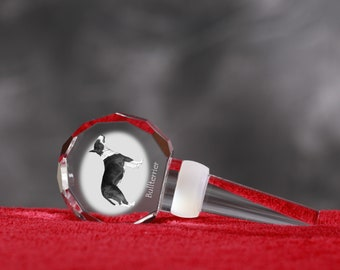 Bull Terrier, Crystal Wine Stopper with Dog, Wine and Dog Lovers, High Quality, Exceptional Gift. NEW COLLECTION