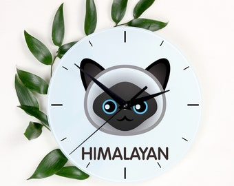 A clock with a Himalayan cat. A new collection with the cute Art-Dog cat