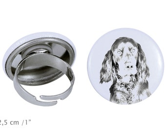 Ring with a dog- Gordon Setter