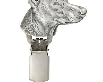 Pharaoh Hound, dog clipring, dog show ring clip/number holder, limited edition, ArtDog