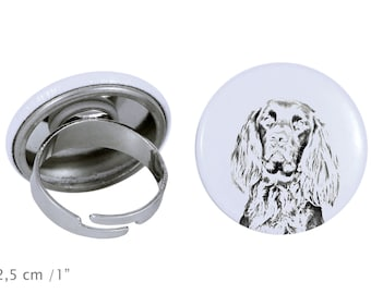 Ring with a dog- German Longhaired Pointer