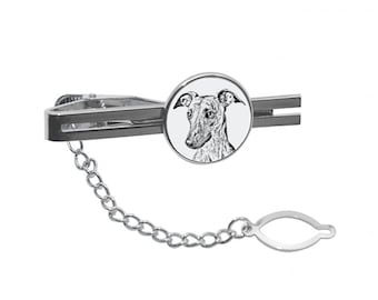 NEW! Whippet - Tie pin with an image of a dog.