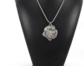 NEW, Bouvier, Flanders Cattle Dog, dog necklace, silver cord 925, limited edition, ArtDog