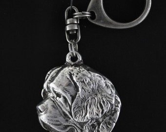 Saint Bernard, dog keyring, keychain, limited edition, ArtDog . Dog keyring for dog lovers