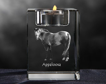 Appaloosa, crystal candlestick with horse, souvenir, decoration, limited edition, Collection