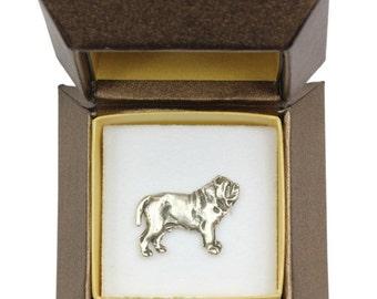 NEW, Neapolitan Mastiff (body), dog pin, in casket, limited edition, ArtDog