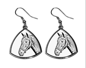 Danish Warmblood, collection of earrings with images of purebred horses, unique gift. Collection!