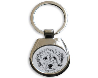 Cockapoo - NEW collection of keyrings with images of purebred dogs, unique gift, sublimation . Dog keyring for dog lovers