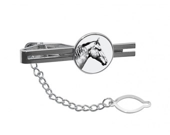 NEW! Selle français  - Tie pin with an image of a horse.