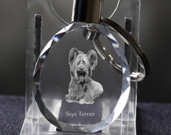 Norfolk Terrier Silver Keyring