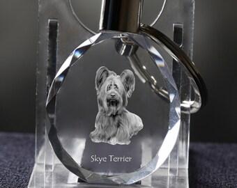 Skye terrier   , Dog Crystal Keyring, Keychain, High Quality, Exceptional Gift . Dog keyring for dog lovers