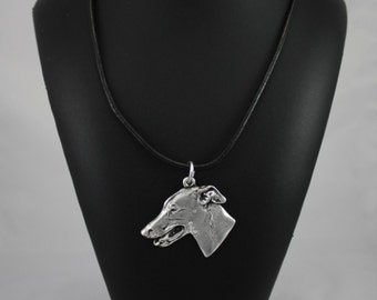Grey Hound,  English Greyhound, dog necklace, limited edition, ArtDog