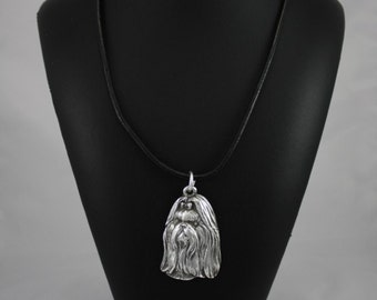 Shih-Tzu longhaired (with ribbon), dog necklace, limited edition, ArtDog