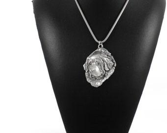 NEW, Tibetan Mastiff, dog necklace, silver cord 925, limited edition, ArtDog