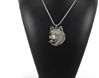 NEW, Alaskan Malamute, Mal or Mally, dog necklace, silver cord 925, limited edition, ArtDog
