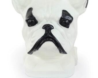 Urn for dog ashes - French Bulldog statue. ArtDog Collection Cremation box, Custom urn.