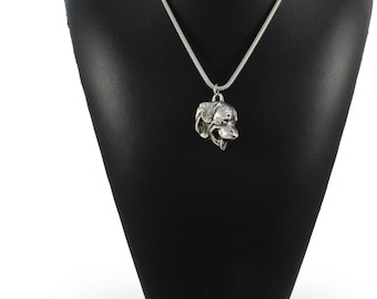 NEW, Rottweiler (tongue), dog necklace, silver cord 925, limited edition, ArtDog
