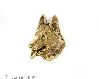 German Shepherd, millesimal fineness 999, dog pin, limited edition, ArtDog