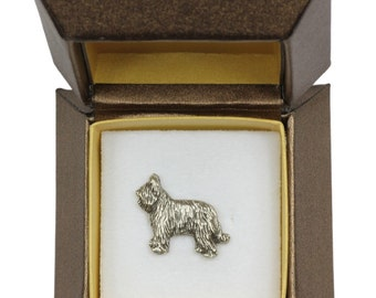 NEW, Briard (body), dog pin, in casket, limited edition, ArtDog