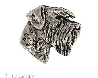 Schnauzer (head), dog pin, limited edition, ArtDog