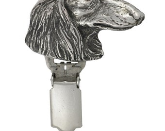 Teckel, Dachshund (long haired), dog clipring, dog show ring clip/number holder, limited edition, ArtDog