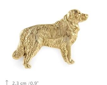Golden Retriever (body), millesimal fineness 999, dog pin, limited edition, ArtDog