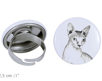 Ring with a cat - Sphynx cat