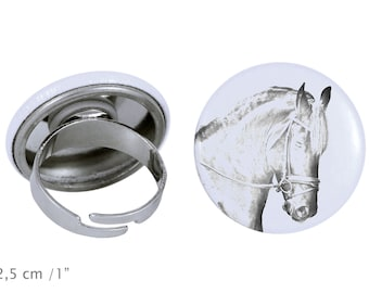 Ring with a horse - Friesian, Frisian