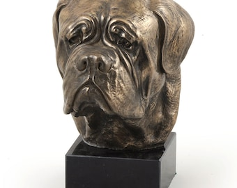 Dogue de Bordeaux, dog marble statue, limited edition, ArtDog. Made of cold cast bronze. Perfect gift. Limited edition