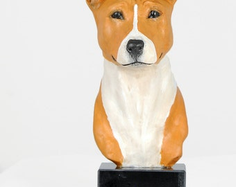 Basenji, dog marble statue, painted, limited edition, make your own statue, ArtDog. Made of cold cast bronze. Perfect gift. Limited edition