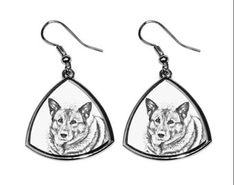 Norwegischer Elchhund- NEW collection of earrings with images of purebred dogs, unique gift