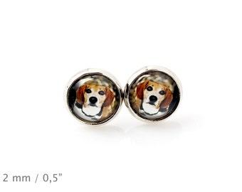 Beagle. Pet in your ear. Earrings. Photojewelry. Handmade.