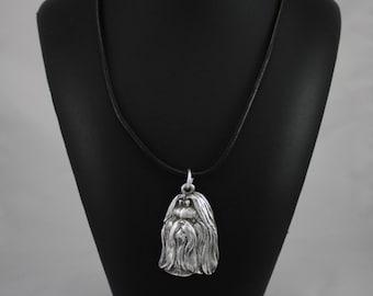Shih-Tzu longhaired (with ribbon), dog necklace, limited edition, ArtDog