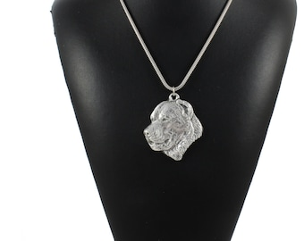 NEW, Central Asian Shepherd Dog, dog necklace, silver cord 925, limited edition, ArtDog