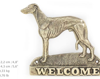 Whippet, dog welcome, hanging decoration, limited edition, ArtDog