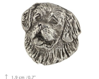 Saint Bernard (head), dog pin, limited edition, ArtDog