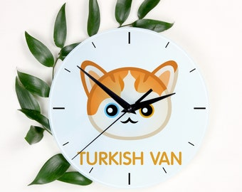 A clock with a Turkish Van cat. A new collection with the cute Art-Dog cat