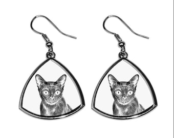 Bombay cat, collection of earrings with images of purebred cats, unique gift. Collection!