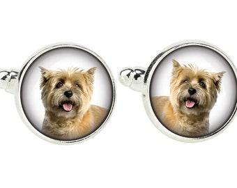 Cairn Terrier. Cufflinks for dog lovers. Photo jewellery. Men's jewellery. Handmade